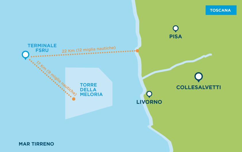 Costa Tirrenica Toscana Cartina.Dove Si Trova Olt Offshore Lng Toscana