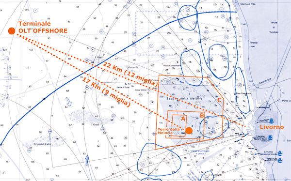 Livorno cartina nautica